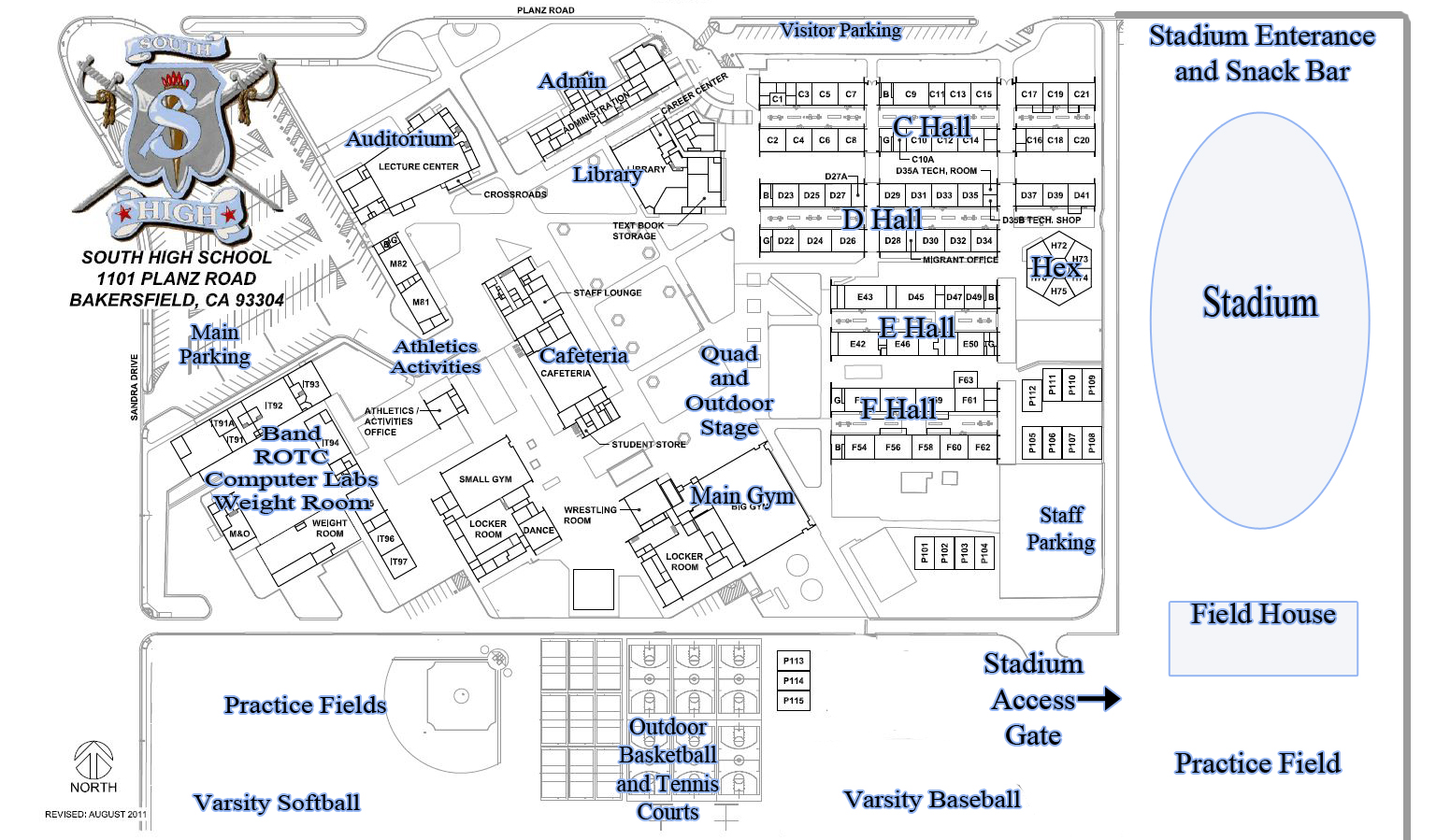Campus Map – About – South High School